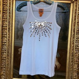 Tory Burch vintage muscle tee with embellishments